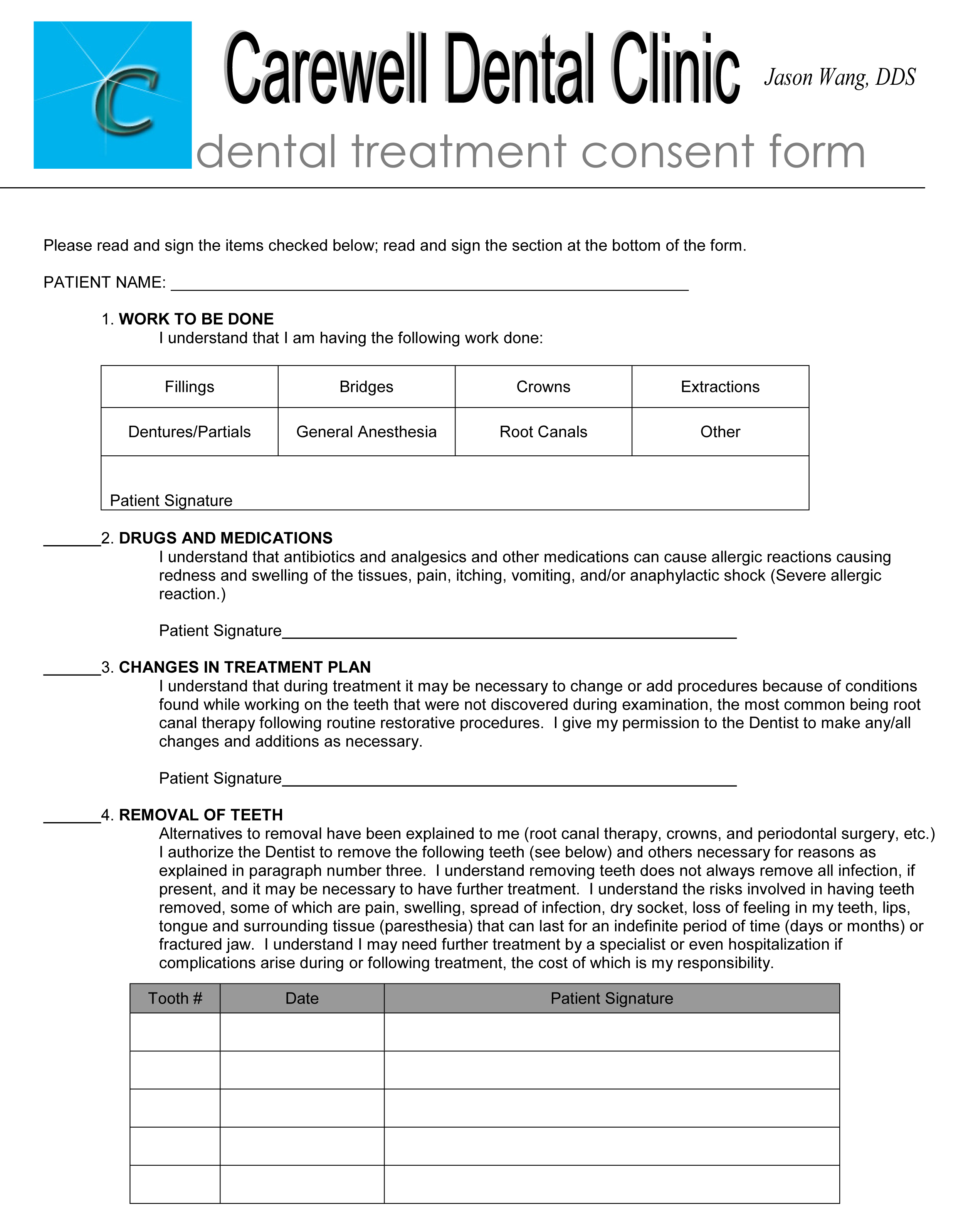 outstanding dental consent form frieze simple resume template format. Black Bedroom Furniture Sets. Home Design Ideas